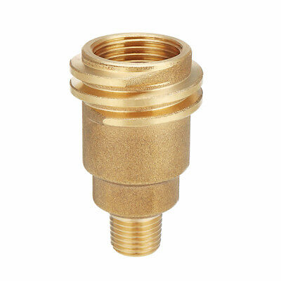 Connector to Pipe Gas QCC1 Fitting 1/4 Male Adapter Thread Propane Room Decor