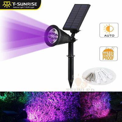 4LED Purple Solar Garden Spot Light Outdoor Lawn Landscape Spotlight Lighting ()