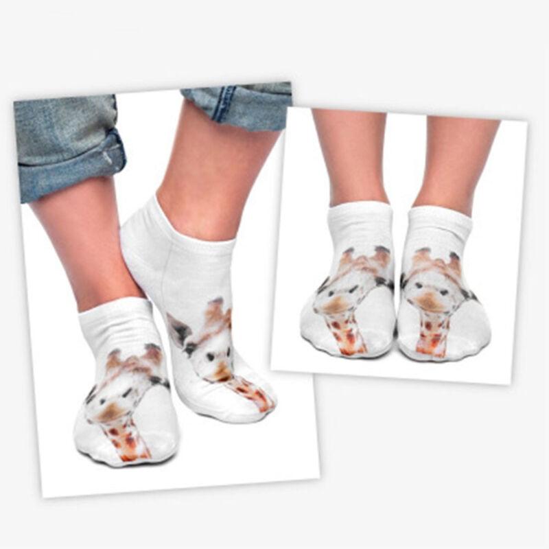3D Print Giraffe Socks Women Casual Socks Unisex Low Cut Ankle Socks