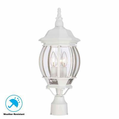 Outdoor Pole Light Lamp Post Lantern Driveway Yard Garden Sidewalk Decor White ()
