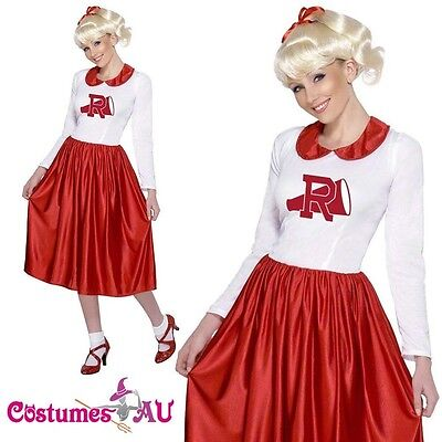 Grease Sandy Costume Licensed 50s Rydell High Cheerleader 1950s Fancy Dress Up](Grease Sandy Cheerleader Costume)