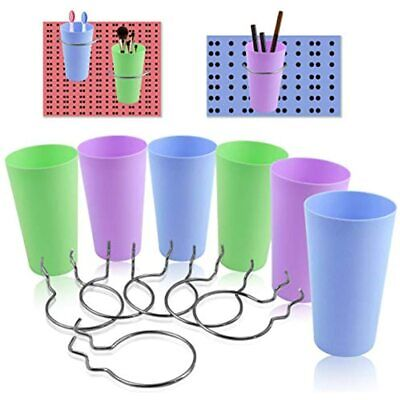 Ygoline 6 Sets Pegboard Storage Bins With Hooks Board Accesorries Baskets Cups
