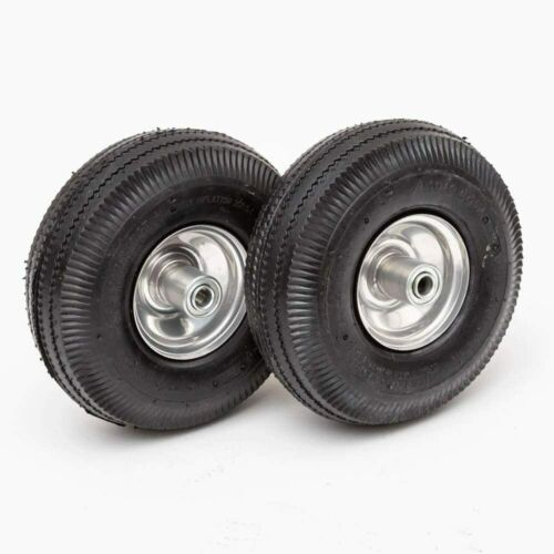 """Replacement Cart Tires Wheels Set of 2 10.4"""" Wagon Utility Carts Hand Truck"""