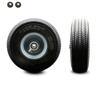 10 X 3 Flat Free Hand Truck Dolly Wheel Only W2.25 Offset Hubball Bearings
