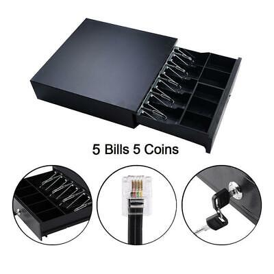 Cash Register Drawer Box 5 Bill 5 Coin Tray Compatible Wpos Printers Durable