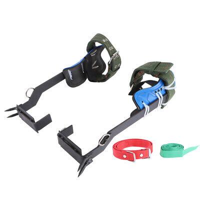 2 Gears Tree Climbing Spike Set Safety Belt Rope Lanyard Rescue Belt USA