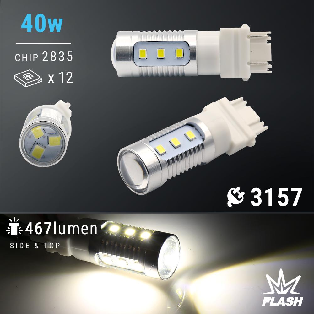 Syneticusa 3157 CK LED Strobe Flash Blinking Brake Tail Light/Parking Bulbs Car & Truck Light Bulbs Car & Truck Lighting & Lamps