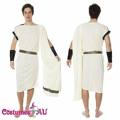 Mens Caesar Adult Roman Greek Julius Toga Costume Fancy Dress Halloween (Halloween Toga)
