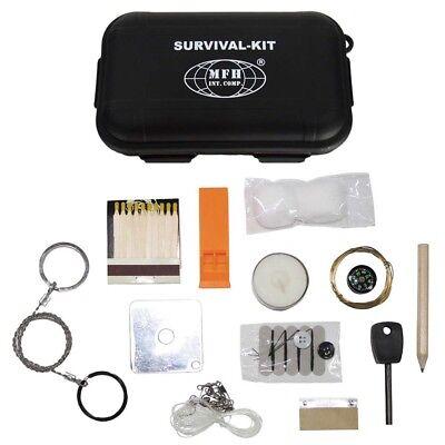 Survival-Set Kit Notfall Überlebens-Box SOS Outdoor wasserdicht Kompass