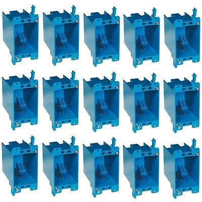 15-pc 20 Single-gang Wall Outlet Switch Old-work Plastic Electrical-box Remodel