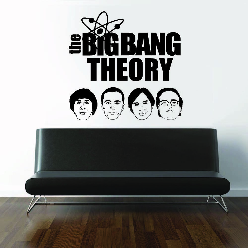 The Big Bang Theory Casts Face Silhouette Wall Sticker Vinyl