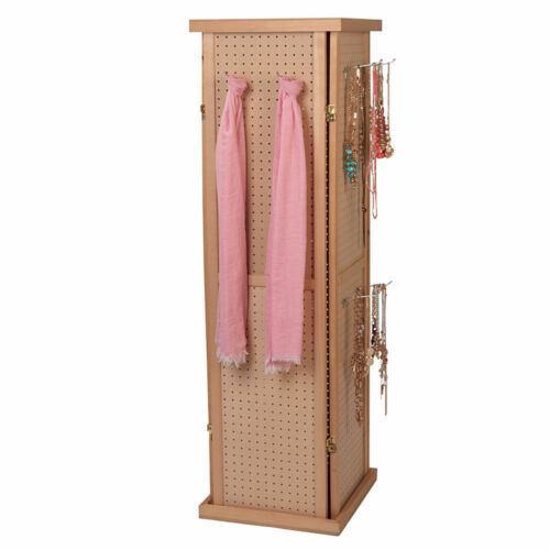 Pegboard Tower Display 4 Sided Spinner Top Base Hinged Rotating Peg Board 5