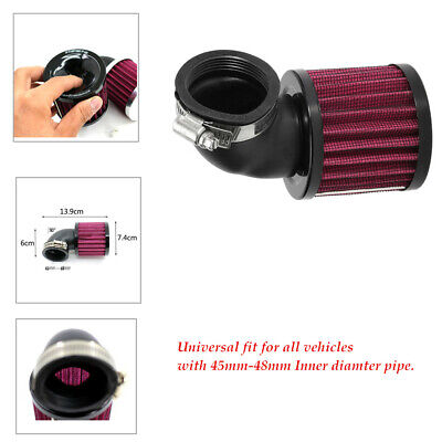 1 Set 45MM-48MM Curved Tube Air Cleaner Intake Filter Motorcycle Pod Draw Air
