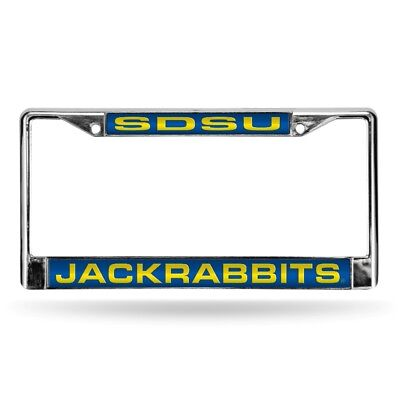 South Dakota State Jackrabbits Chrome Metal Laser Cut License Plate Frame ()