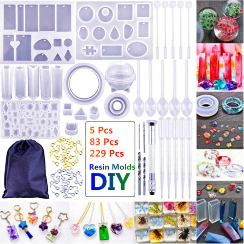 Silicone Mold Dropper Sluiting Resin Jewelry Making Mold DIY Craft Tool Kit