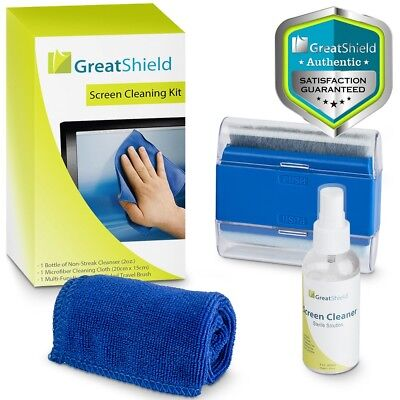 Screen Cleaning Kit Cleaner Spray Brush Microfiber Cloth LCD LED TV Camera Phone