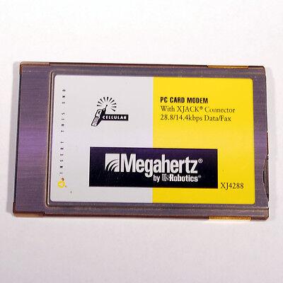 Megahertz XJ4288 PCMCIA Cellular Modem with XJACK Connector 28.8/14.4 Data Fax