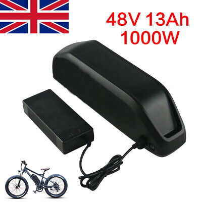 48V 13Ah 1000W Ebike Li-ion Battery Downtube Battery for Electric Motorbike UK