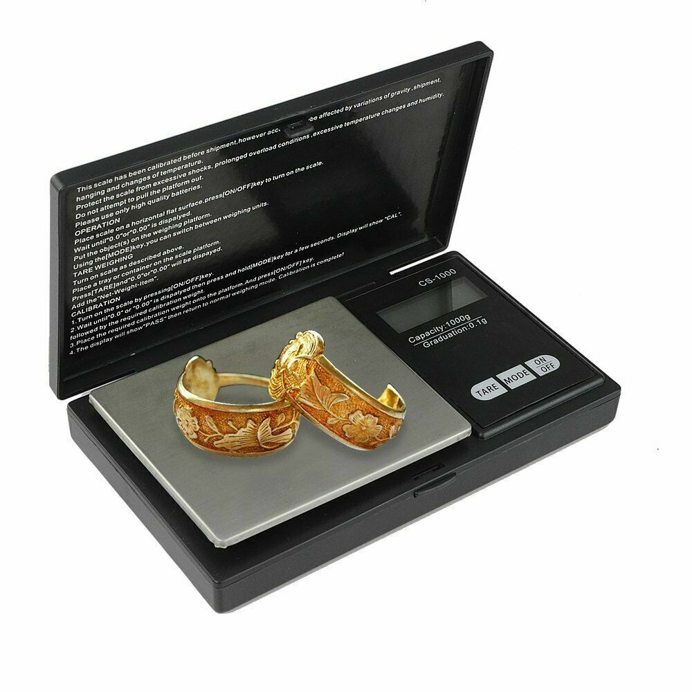 Pocket 1000g x 0.1g Digital Jewelry Gold Coin Gram Balance Weight Precise Scale Jewelry & Watches