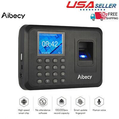 Biometric Fingerprint Checking-in Attendance Machine Employee Time Clock U0r4