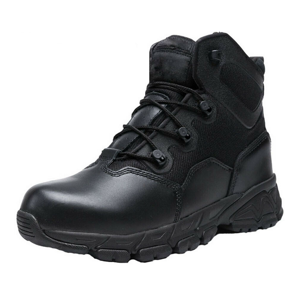 6'' Waterproof Zipper Boot Military Tactical Combat Hiking B