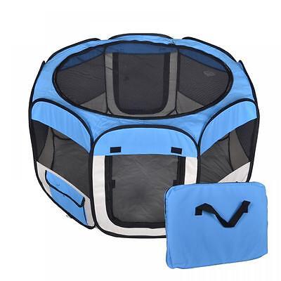 New L Black/Blue/Bur/Pink/Red Pet Dog Cat Tent Playpen Exercise Play Pen T08L