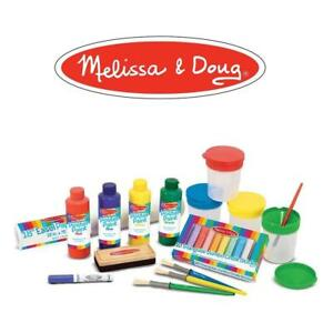 NEW EASEL ACCESSORY SET 4145 204393866 MELISSA  DOUG PAINT CUPS BRUSHES CHALK PAPER DRY ERASE MARKER
