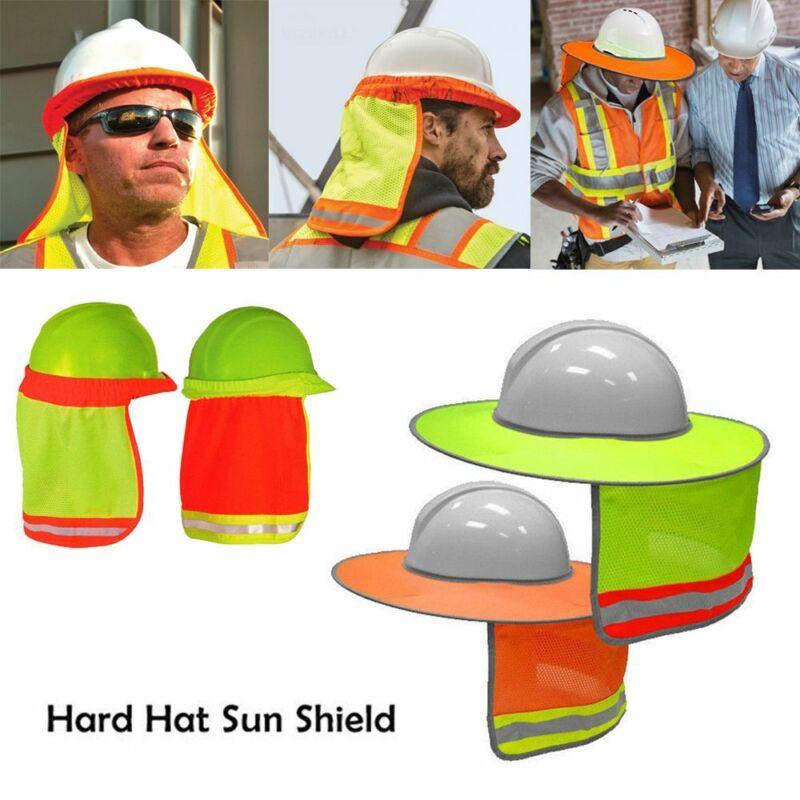 Safety Hard Hat Neck Shield Helmet Sun Shade Reflective Stri