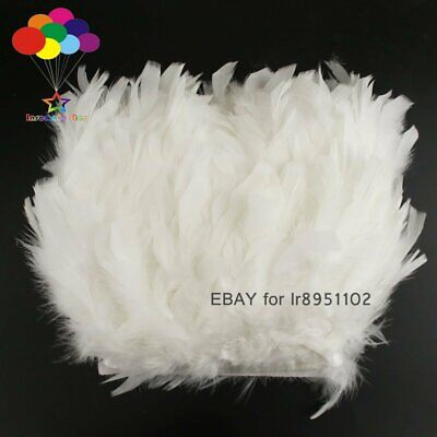 2 Meter Dyed White color Turkey feather fringe trim 6-8inches chandelle marabou Color Marabou Feather Trim