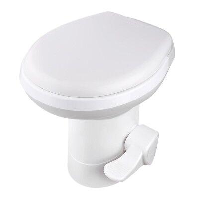 "20"" RV Camper Toilet Gravity Flush Toilet Foot Pedal Home Caravan Travel Camping"