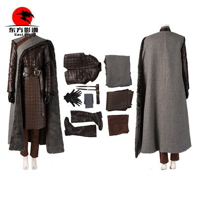 Game of Thrones 8 Costume Arya Stark Cosplay Custom Pants Skirt Gloves Scarf](Arya Game Of Thrones Costume)