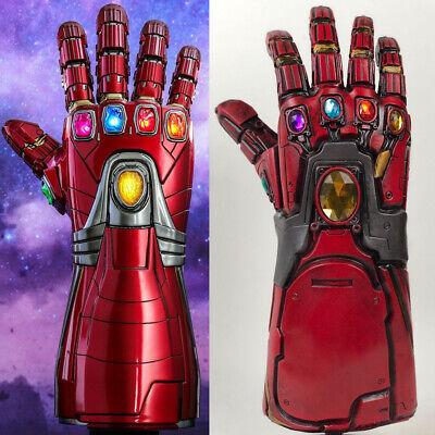 Avengers 4 Endgame Iron Man Infinity Gauntlet Cosplay Arm Thanos Latex -