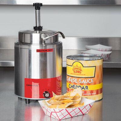 3.5 Qt 10 Can Warmer Pump Hot Fudge Caramel Nacho Cheese Commercial Dispenser