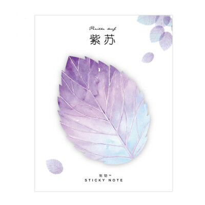 Hot Natural Plant Leaf Memo Pad Sticky Notepad Kawaii Stickers Message Notes