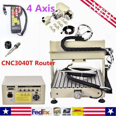 4 Axis Cnc 3040t Router Engraver Vfd Engraving 3d Drilling Machine Handwheel