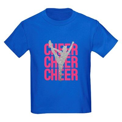 CafePress Pink Cheer Glitter Silhouette T Shirt Kids Cotton T-shirt (1606061036) - Cheer Silhouette