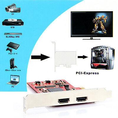 TV PC Capture Card YK762H PCI-E HDMI Definition Video Equipments for PS 3 4 Xbox