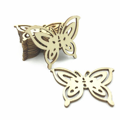 Natural Wood color butterfly shape Wooden crafts decoration scrapbooking - Wood Butterfly