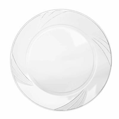 Disposable Clear Plastic Plate - 100 Pack - 9
