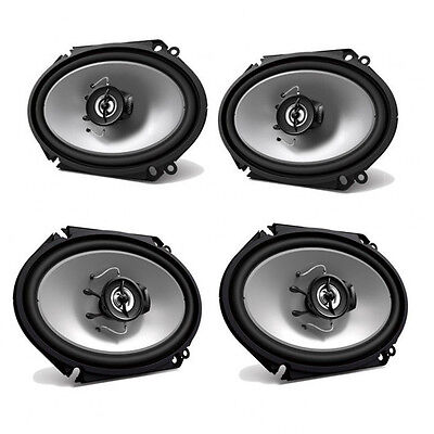 "2) Kenwood KFC-C6865S 6x8"" 250 Watt 2-Way Car Audio Coaxial"