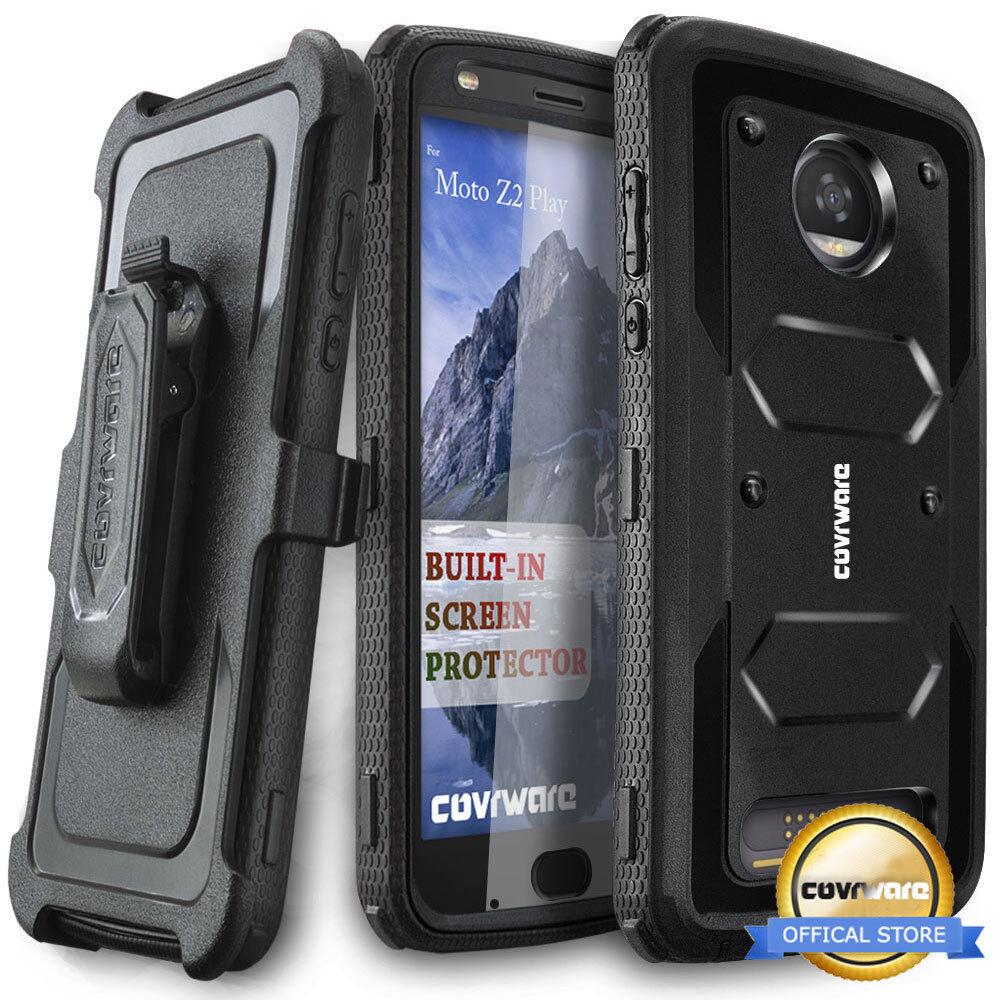 COVRWARE®  Full-Body Armor Holster Case For Moto Z2 PLAY /