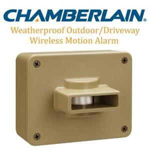 USED Chamberlain CWPIRC Weatherproof Outdoor/Driveway Wireless Motion Alarm and Alert System Add-On Sensor, Includes ...