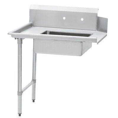 Commercial Kitchen Stainless Steel Soiled Dish Table Left Side 30 X 72 Ss