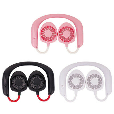 Rechargeable Necklance Fans USB Battery For Traveling Headph