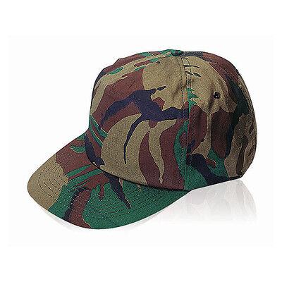 100% Cotton Camouflage Army Green Baseball Cap - Hat Adjustable School Work BN
