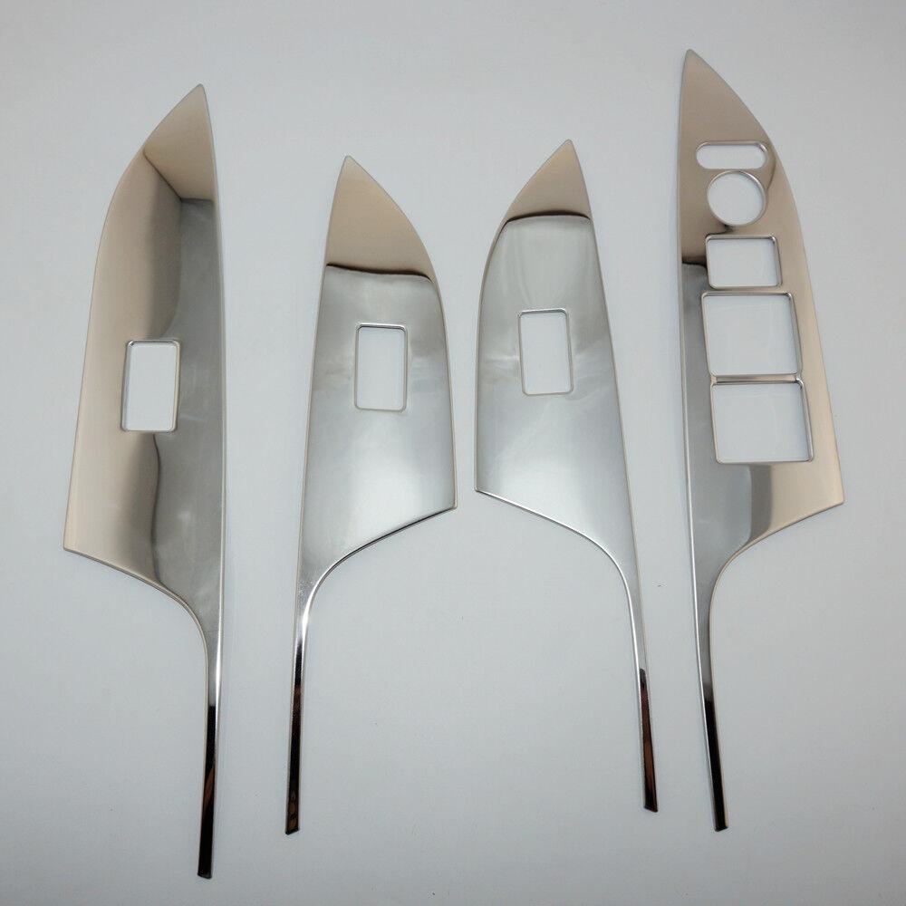 Blue 4X Door Window Switch Panel Cover Trim Molding For Honda Accord 2014-2015