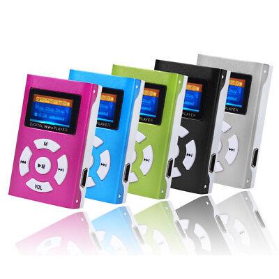 MP3 Player Mini LCD Display Musik Micro SD bis 32GB + Zubehörpaket pink