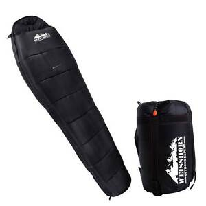 NEW FREE SHIPPING - Camping Thermal Sleeping Bag Black Silverwater Auburn Area Preview