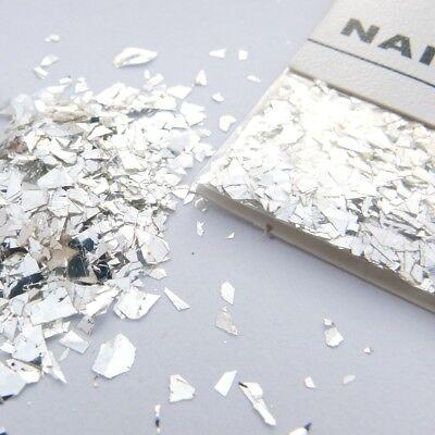 1 Karte Splitter Mix Glitter Silber ca.1g Nail Art