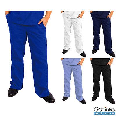 Unisex Men/Women Natural Uniforms Medical Hospital Nursing Scrub Flare Leg Pants